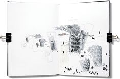 """[Image: Image """"Eternal Punishment,"""" from The Emperor's Castle by Thomas Hillier].For his student thesis project at the Bartlett School of Architecture, Thomas Hillier produced … Bartlett School Of Architecture, Paper Architecture, Architecture Drawings, Architecture Diagrams, Landscape Architecture, Origami Kite, Sketch A Day, Paper Book, Visual Diary"""