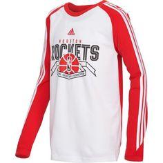 Image for adidas Boys' Houston Rockets Prestige Performance Long Sleeve T-shirt from Academy