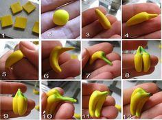fondant banana mini tutorial