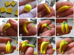 how to shape a banana