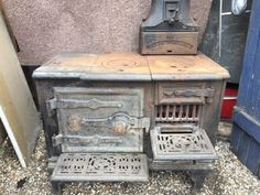 Early version with pierced shelves. Stoves, Kitchen, Home Decor, Cooking, Homemade Home Decor, Ovens, Home Kitchens, Kitchens, Decoration Home