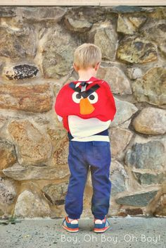 Sewing for Kindergarten: Angry Bird Backpack Tutorial