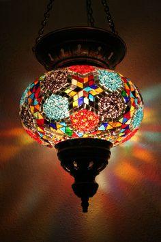 EXTRA LARGE TURKISH MOROCCAN MOSAIC HANGING LAMP PENDANT LANTERN LAMPSHADE   eBay