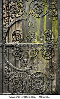 Metal work on beautiful old door