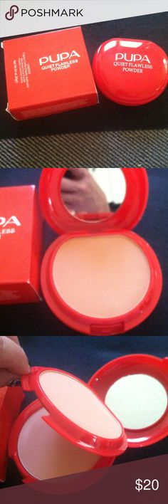 Pupa Milan cream plus powder nude color Brand new it has 3 different sections cream powder and sponge Pupa Makeup Foundation