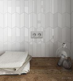 Herringbone Bathroom Wall Tile White Hexagon Mix Light