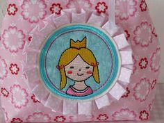"""Stickdatei """"Prinzessin"""" von www.mikronaut.de, gestickt von Cornelia aus der Zwergenwelt"""