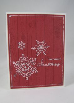 Endless Wishes- Stampin' Up by Miechelle Weber.  CAS - love the red hardwood background.