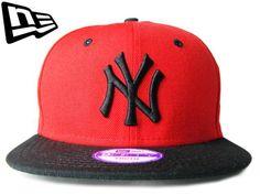 """【ニューエラ】【NEW ERA】9FIFTY キッズサイズ NEW YORK YANKEES """"NY"""" レッドXブラック【SNAPBACK】【スナップバック】【CAP】【newera】【帽子】【ニューヨーク】【KID'S SIZE】【子供用】【黒】【赤】【NY】【ボーイズ】【ガールズ】【kids】【youth】【あす楽】【楽天市場】"""