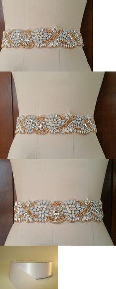 Other Bridal Accessories 106128: Wedding Bridal Sash Belt, Rose Gold Crystal Opal Wedding Dress Sash Belt -> BUY IT NOW ONLY: $30.72 on eBay!