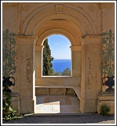 Window to the Mediterranean, Hanley Gardens, Italy