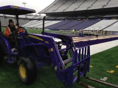 Working at the @UW - Only purple tractors for the #Huskies