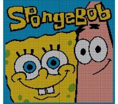 Spongebob Squarepants & Patrick Crochet Pattern Afghan Graph, $5.0