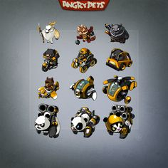 Bear units for game AngryPets by shpacia.deviantart.com on @deviantART