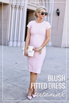Elle Apparel: BLUSH FITTED DRESS {TUTORIAL}
