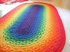 alfombra rectangular crochet - Buscar con Google