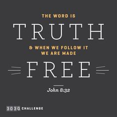 His Word sets us free!