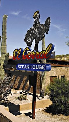 The home of El Corral Steakhouse, 2201 E. River Road, was built in 1926 by developer John Murphey on part of a large piece of foothills land he had owned since 1915. It was Tucson's first eating and drinking establishment east of Oracle Road.  Our favorite restaurant in Ticson, AZ