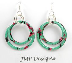 pop can jewelry - layered circles for earrings & pendants, linked circles for bracelets