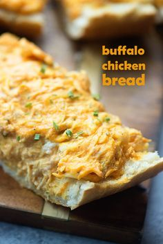 I took an easy buffalo chicken dip recipe and spread it on sliced French bread for a handheld appetizer that everyone absolutely loves! Yep. Here I am again. Back with another easy buffalo chicken di