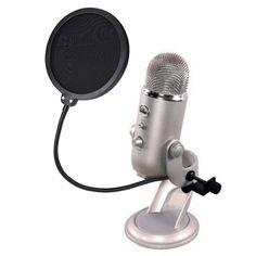 Mudder Studio Microphone Windscreen Mic Wind Screen Pop Filter with Swivel Mount 360 Flexible Holder: Amazon.co.uk: Musical Instruments