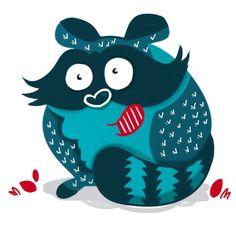 Raccoon Hello Kitty, Disney Characters, Fictional Characters, Minnie Mouse, Illustration, Art, Craft Art, Illustrations, Kunst
