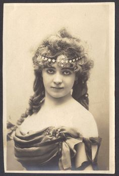 French Artiste with Lovely Art Nouveau Coiffure circa 1905