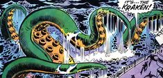 The first vessel operated by Commander Kraken was a radium-powered submarine… built in the likeness of a giant squid. Even Namor didn't realise at first that it was a machine – and he hit it several times before he truly suspected the truth. Presumably there's a thick rubbery shell around the sub itself, with a very realistic paint job.