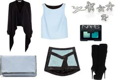 """""""Ice blue with Starfish set"""" by costisjewelry on Polyvore"""
