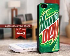 OUR PRODUCT DESCRIPTION The case covers the back and corners of your phone Made from plastic and coated with a crystal clear enamel layer your images will be reflected cleanly Iphone 4, Iphone Cases, Soda Brands, Mountain Dew, Are You The One, Just In Case, Camo, Amazing, Accessories