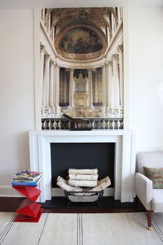 9 Accomplished Tips: Fireplace Candles Dollar Stores tall fireplace kitchens.Fireplace Garden fireplace and mantels house.How To Hang Tv Over Fireplace. Fireplace Bookshelves, Small Fireplace, Faux Fireplace, Fireplace Design, Fireplaces, Fireplace Ideas, Fireplace Candles, Craftsman Fireplace, Cottage Fireplace