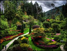 Beautiful, Beautiful garden ~~ Butchart Gardens ~~ someday I would love to see this garden on the Vancouver Island in Canada.