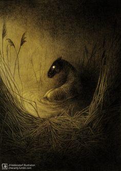 Moody, nature inspired illustrations by Jana Heidersdorf