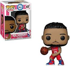 Vinyl Figure your own NBA championship dream team! The biggest stars of basketball are stepping off the courts and into Pop! This NBA Ben Simmons Sixers Pop! Vinyl Figure measures a. Ben Simmons, Funko Pop Figures, Pop Vinyl Figures, Battle Towers, Philadelphia, Otaku, Gordon Hayward, Karl Anthony Towns, Figurine Pop