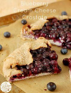 Blueberry Cream Cheese Crostata l www.a-kitchen-addiction.com