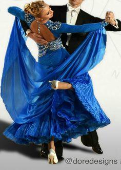 Deor designs blue ballroom dress