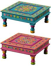 indian bajot coffee table turquoise
