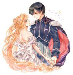 Tags: Anime, Pixiv Id 4164280, Bishoujo Senshi Sailor Moon, Chiba Mamoru, Prince Endymion, Princess Serenity, Tsukino Usagi