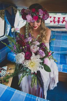 Betty and Brock's Sea Front Bohemian Wedding