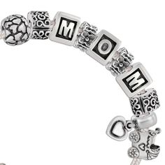 """Received a """"MOM"""" Pandora bracelet from my sons' & DIL's... It's so special to me..."""