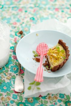 Forelle pear, chocolate, and pistachio tartlets :: Cannelle et VanilleCannelle et Vanille