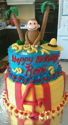Curious George Curious George Party, Curious George Birthday, 4th Birthday Parties, 3rd Birthday, Birthday Ideas, Cupcake Cakes, Cupcakes, Birthday Decorations, Party Time