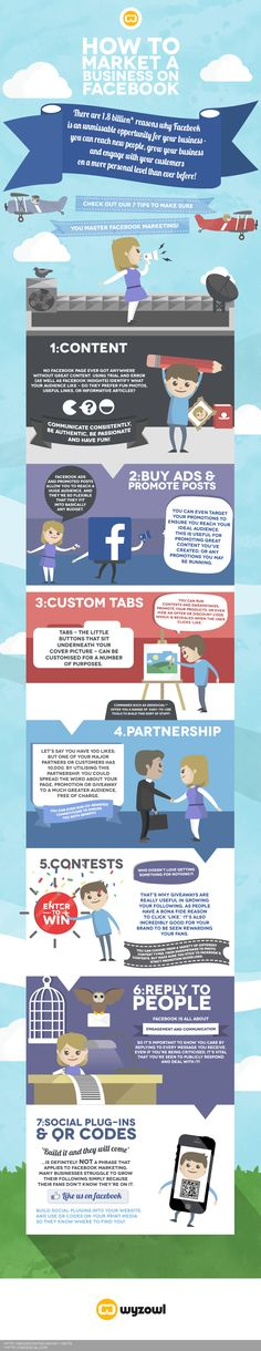 7 Ways To Market Your #Business On #Facebook #socialmedia #infographic