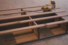 DIY bed building process pics