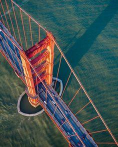 Golden Gate Bridge by David Lacombe #sanfrancisco #sf #bayarea #alwayssf #goldengatebridge #goldengate #alcatraz #california