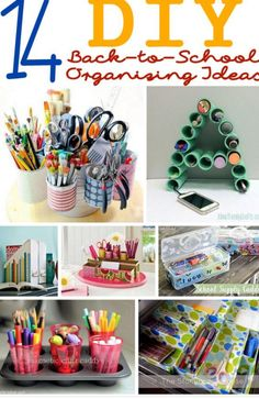 The 13 best back to school diys images on pinterest do it yourself 14 diy organizing ideas for back to school about family crafts solutioingenieria Choice Image