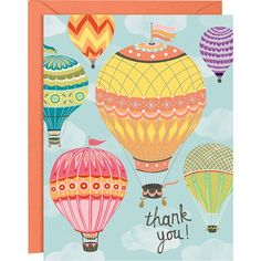Hot Air Balloon A2 Thank You Notes - Paper Source