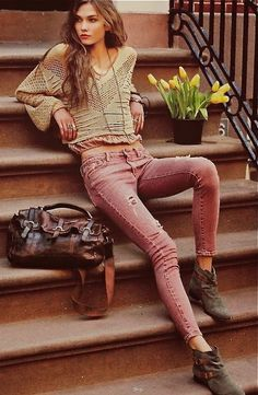 Hot boho chic and love the wildest brown color leather boot