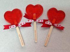 Jabones en forma de paleta para el día de San Valentin!