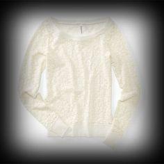 Aeropostale レディース スウェット エアロポステール Flocked Lace Crew Sweatshirt スウェット-アバクロ 通販 ショップ-【I.T.SHOP】 #ITShop